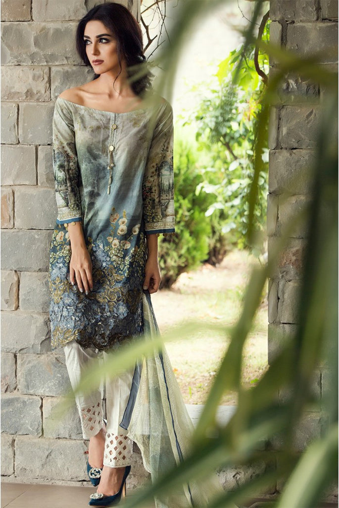 MARIA.B EID Lawn Collection '16 – Beige D-306 - YourLibaas