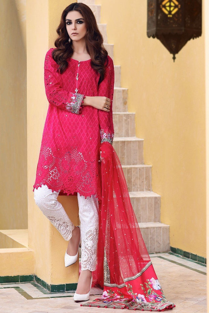 MARIA.B Eid Lawn Collection 2017 – D-401 Fuchsia Pink