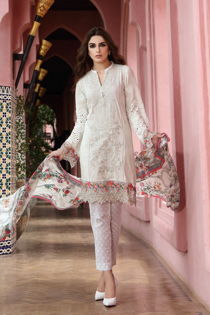 MARIA.B Eid Lawn Collection 2017 – D-402 White
