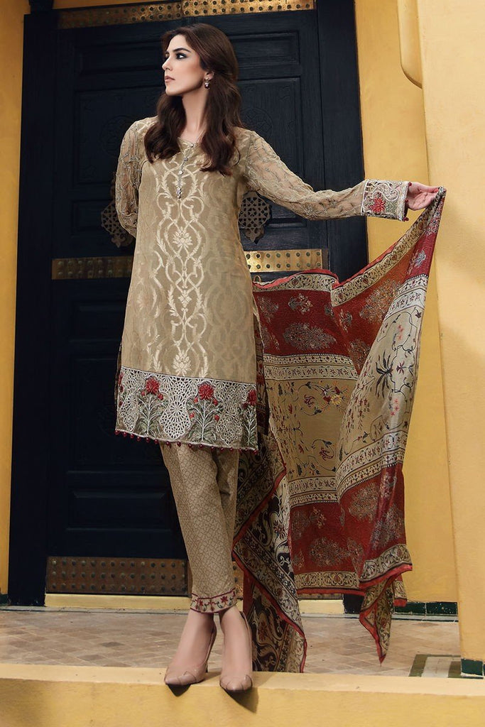 MARIA.B Eid Lawn Collection 2017 – D-409 Coffee