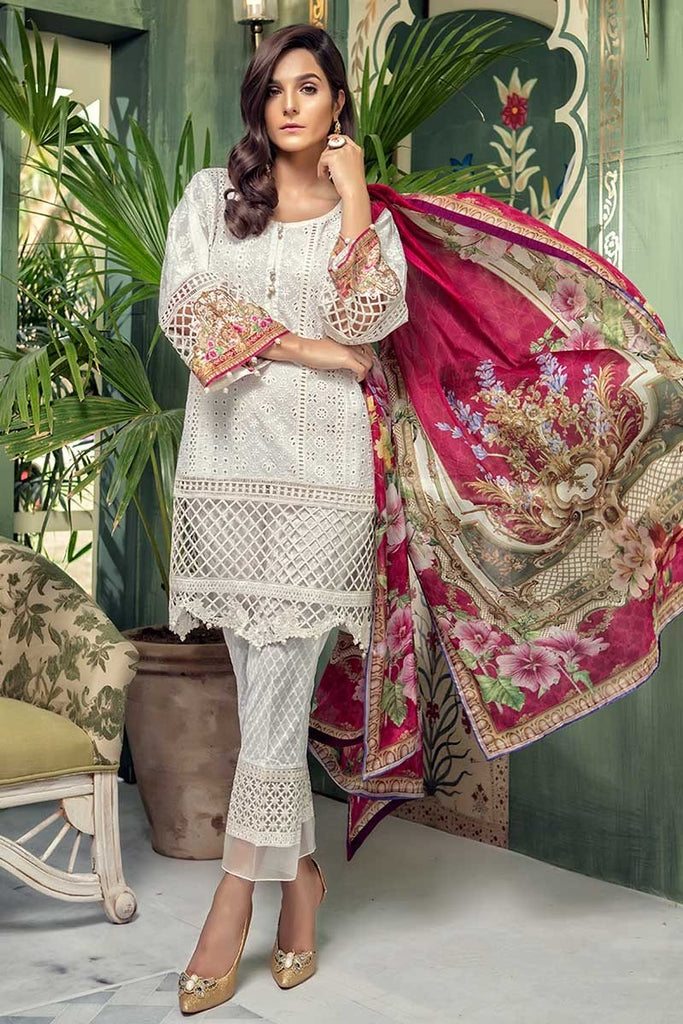 MARIA.B. Eid Lawn Collection 2018 – D-501 White