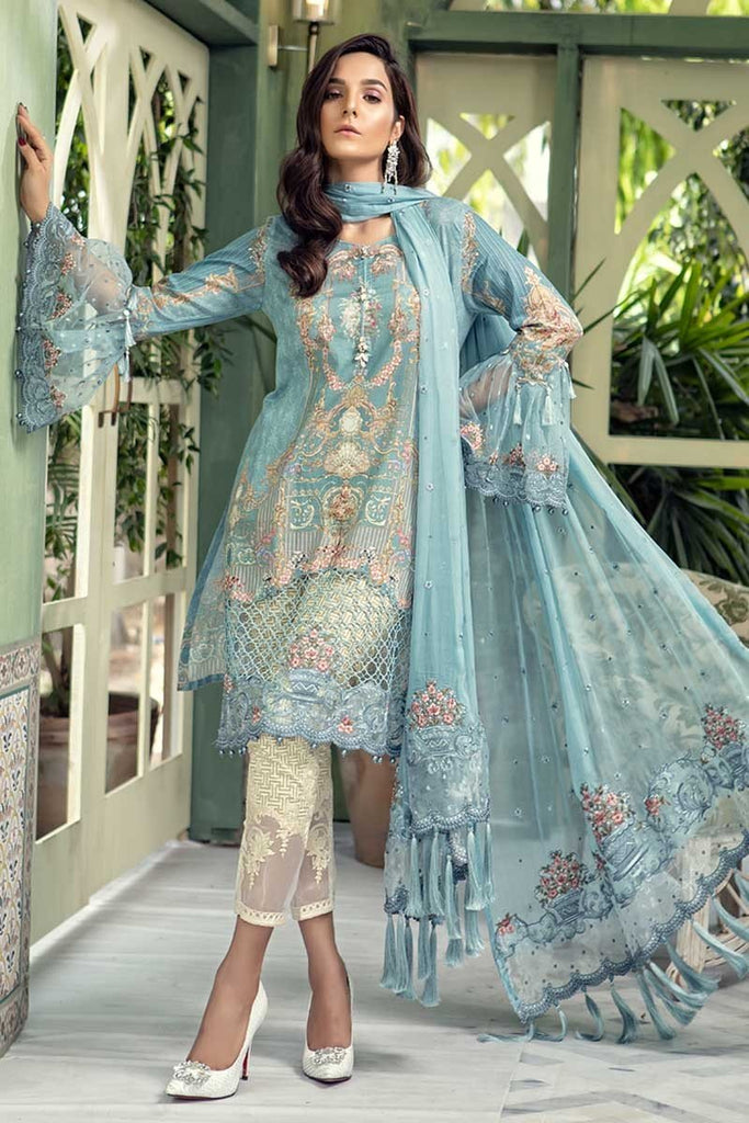 MARIA.B. Eid Lawn Collection 2018 – D-505 Blue