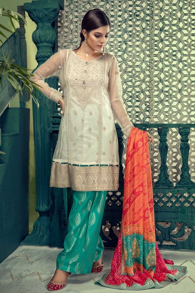 MARIA.B. Eid Lawn Collection 2018 – D-507 Light Coffee