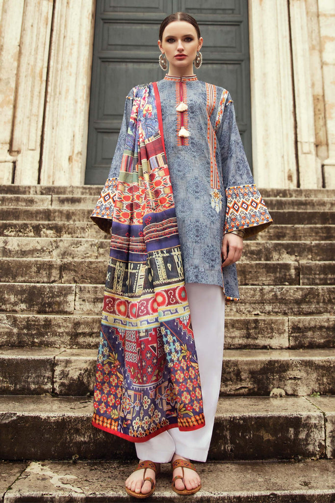 Zara Shahjahan Spring/Summer Lawn Collection 2018 – Zeenat ZSJ09