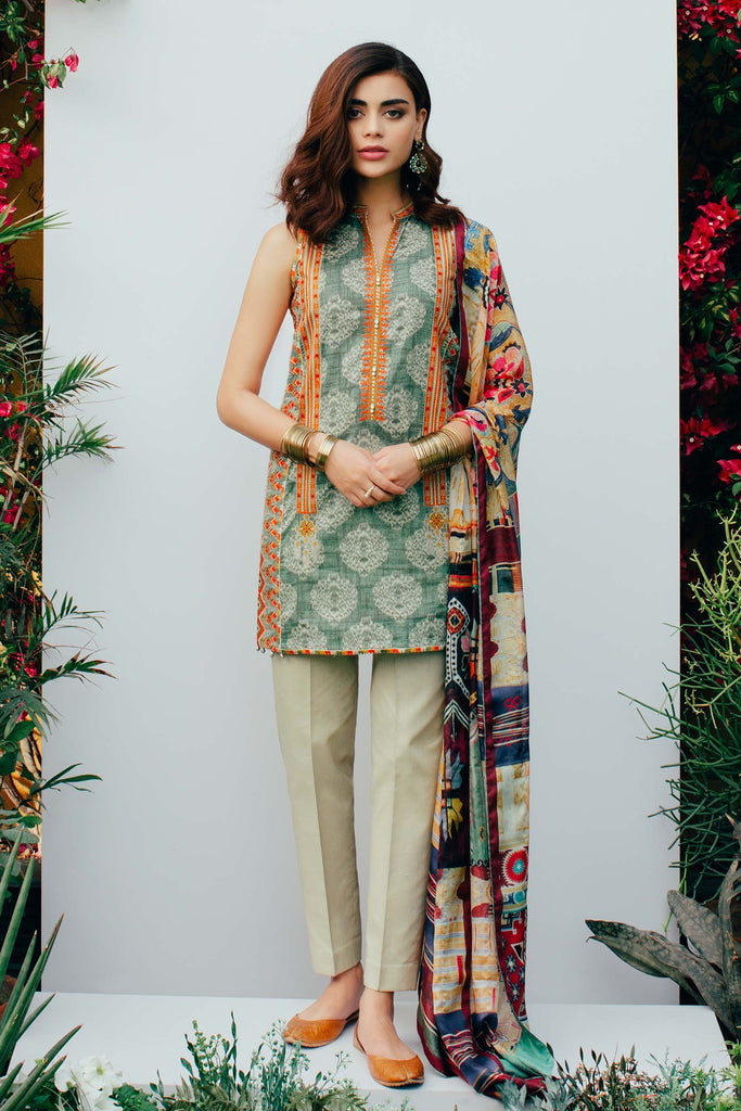 Zara Shahjahan Spring/Summer Lawn Collection 2018 – Zeenat D-ZSJ09