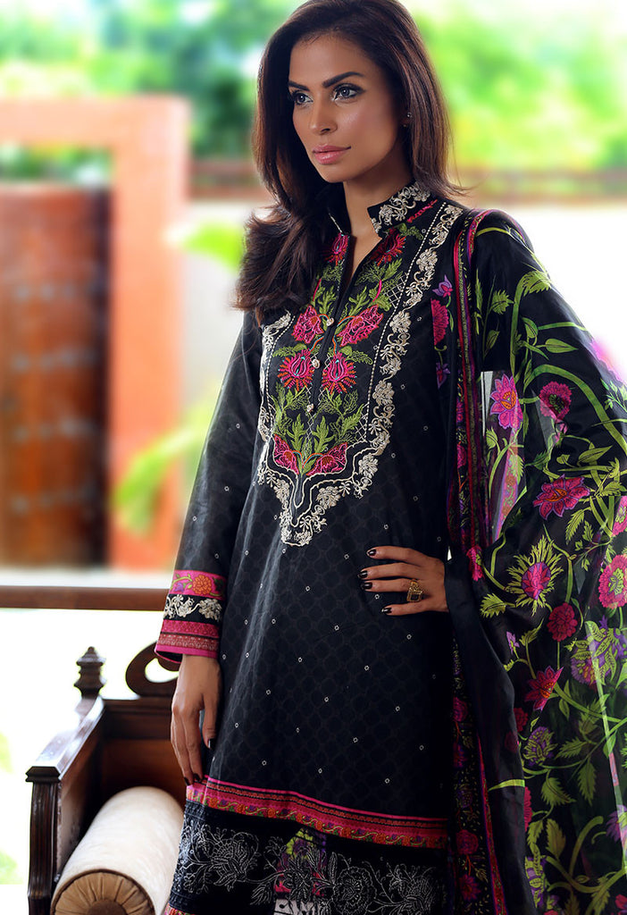 Adamjee Lawn Festive Mid-Summer Collection 2016 – Design 1 - Tree Of Life - YourLibaas  - 1