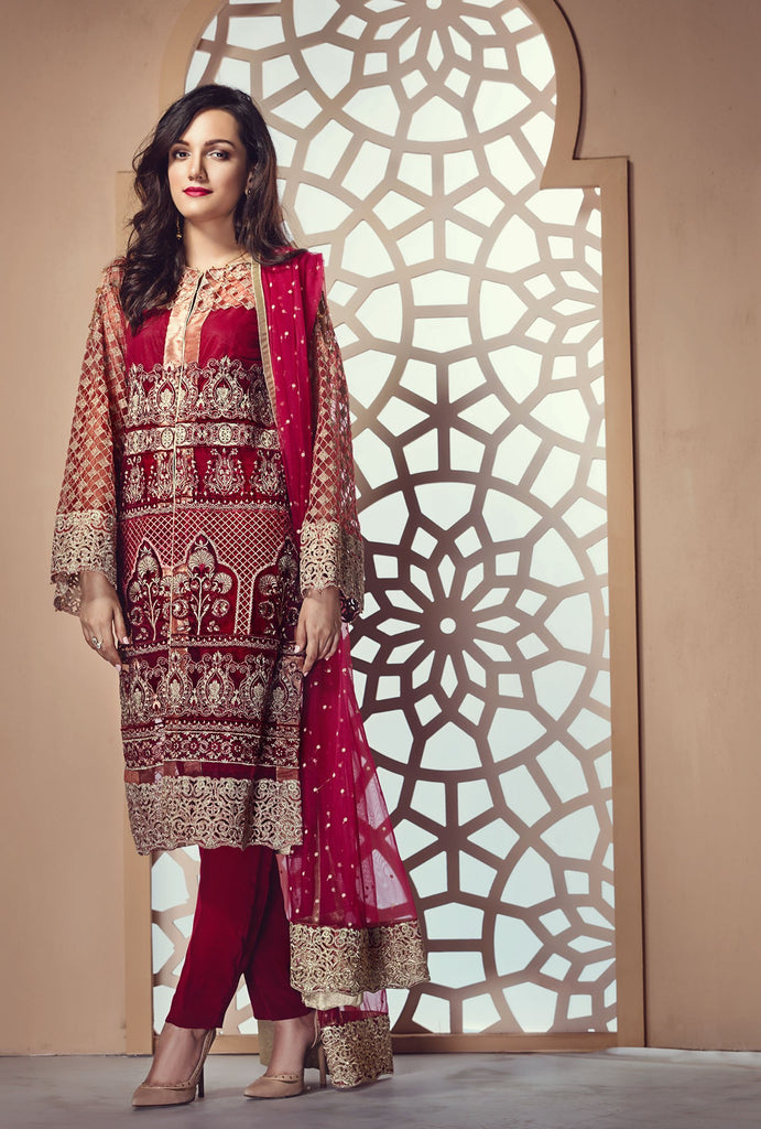 Zareen Festive Eid Collection by Imperial – D06 Ruby Red