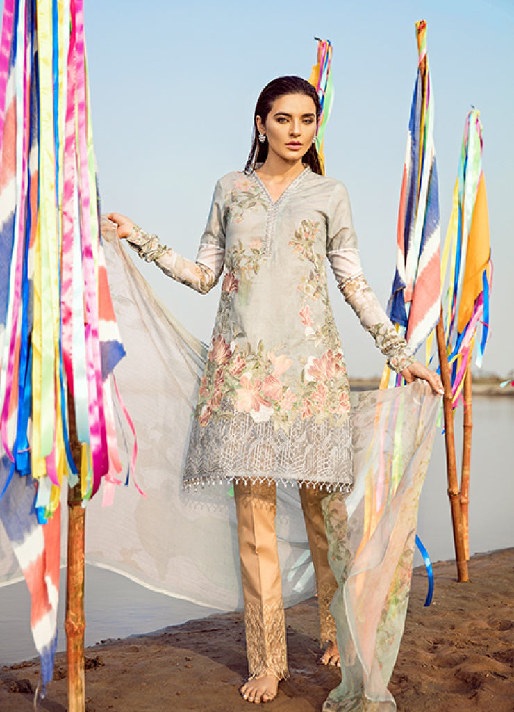 IZNiK Luxury Chinon Lawn Collection 2018 – Zircon (D06)