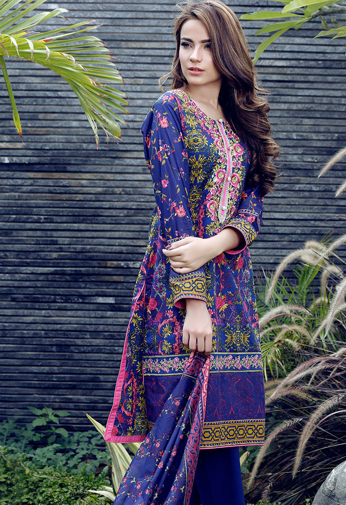 Adamjee Lawn Festive Mid-Summer Collection 2016 – Design 7 - Retro Floral - YourLibaas  - 1