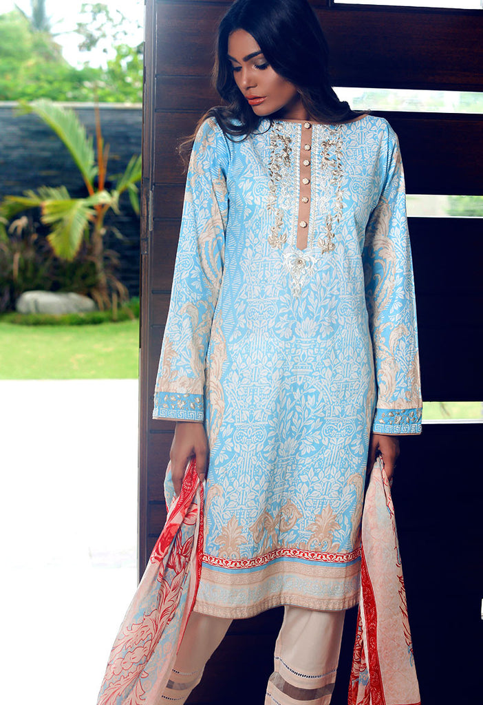 Adamjee Lawn Festive Mid-Summer Collection 2016 – Design 9 - Victorian Revival - YourLibaas  - 1