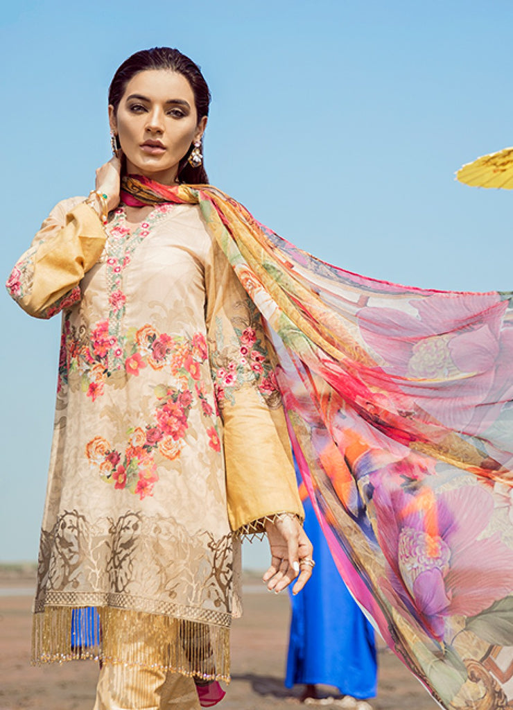 IZNiK Luxury Chinon Lawn Collection 2018 – Topaz (D10)