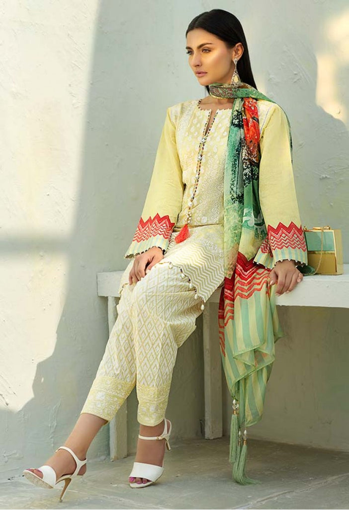 AUJ Spring/Summer Lawn Collection 2018 – Design 07