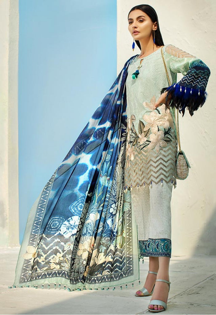 AUJ Spring/Summer Lawn Collection 2018 – Design 09