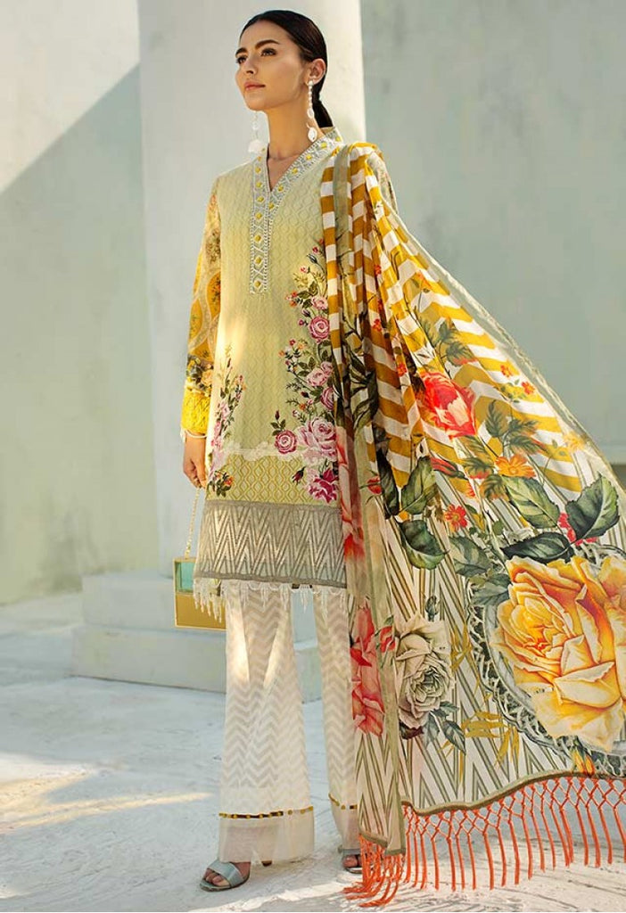AUJ Spring/Summer Lawn Collection 2018 – Design 11