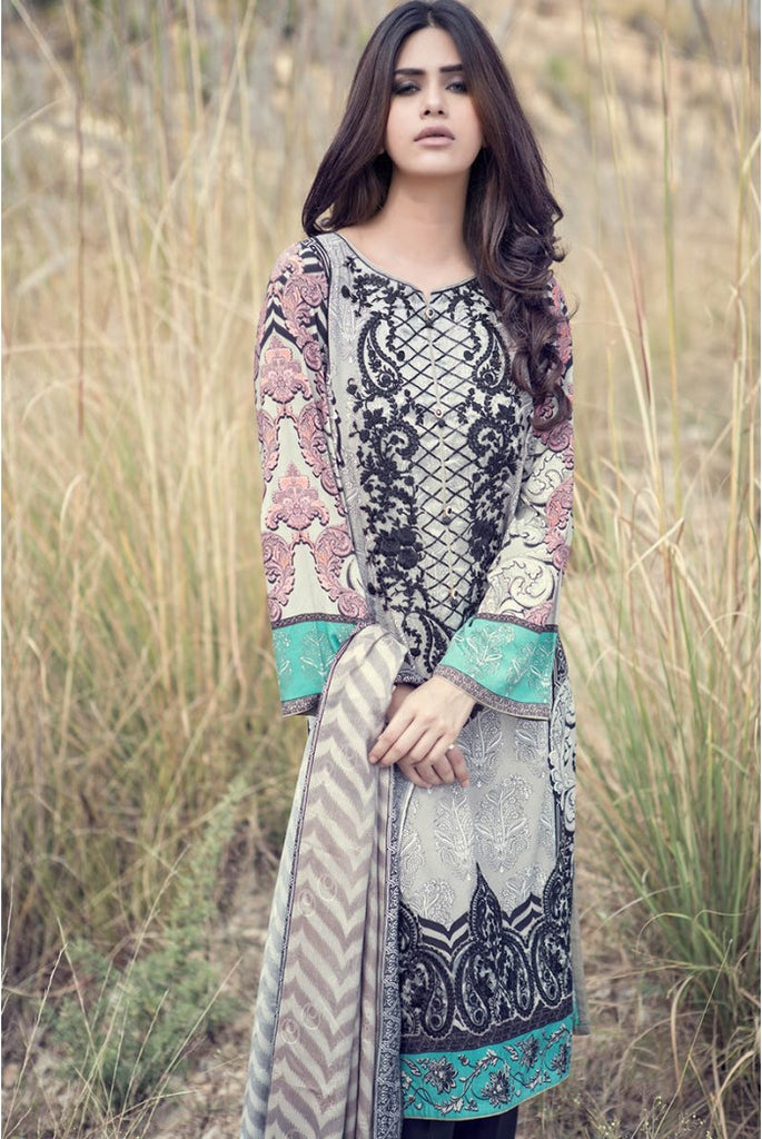 Maria.B Linen Embroidered Collection 2015 - 301 - YourLibaas  - 1