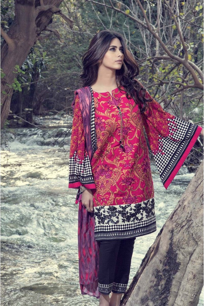Maria.B Linen Embroidered Collection 2015 - 304 - YourLibaas  - 1