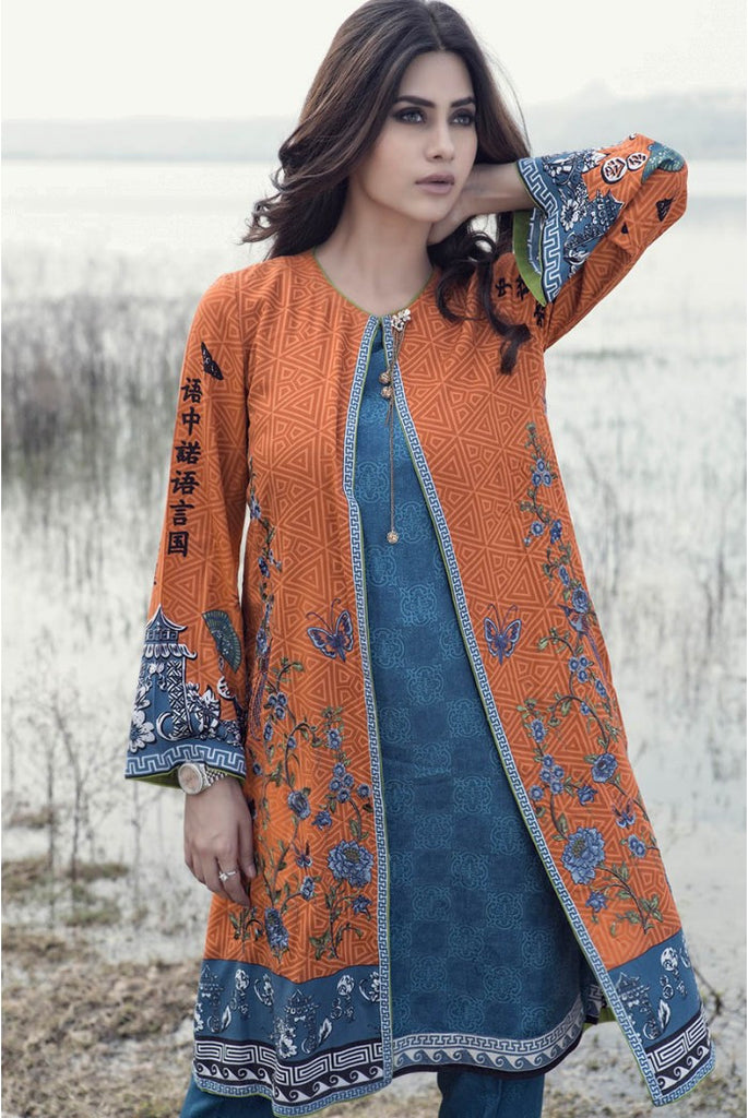 Maria.B Linen Embroidered Collection 2015 - 305 - YourLibaas  - 1