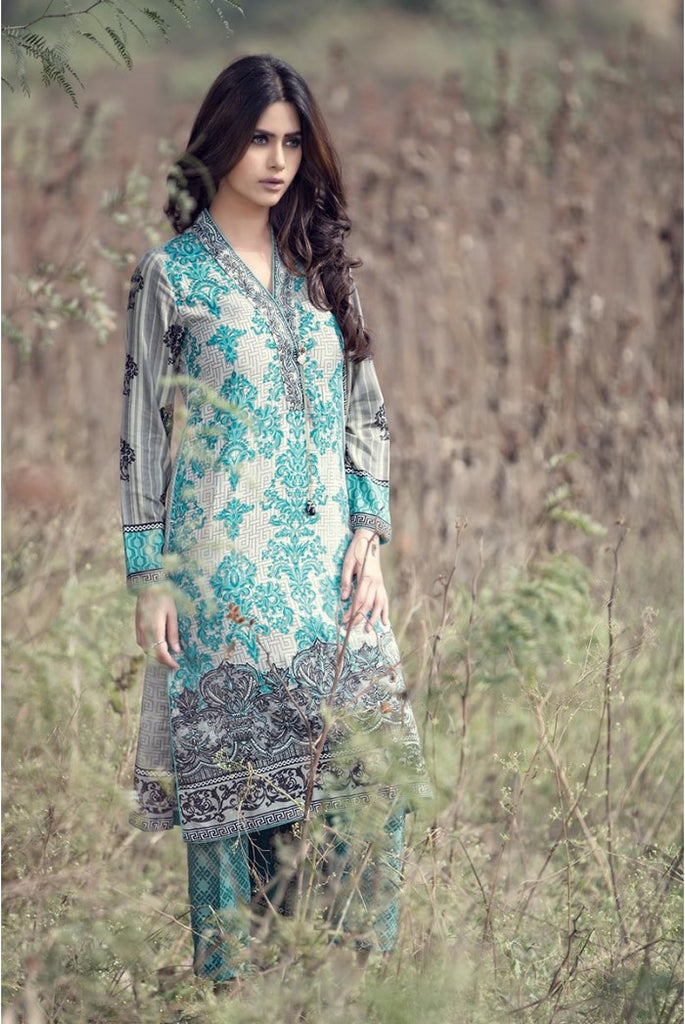 Maria.B Linen Embroidered Collection 2015 - 310 - YourLibaas  - 1