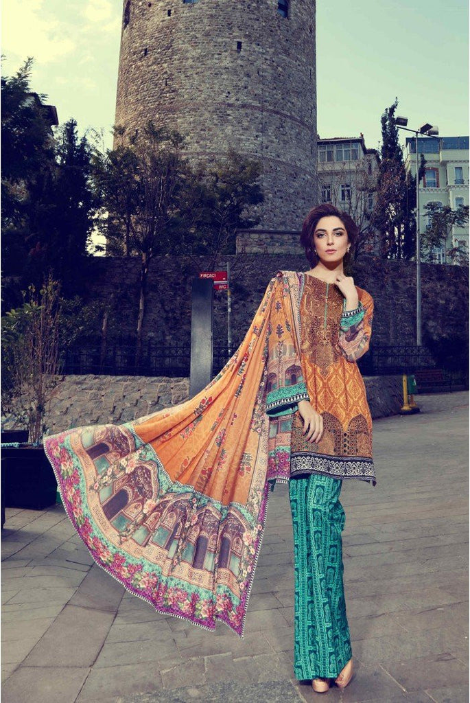 MARIA.B. Linen Winter Collection 2016 – Camel - DL402 - YourLibaas