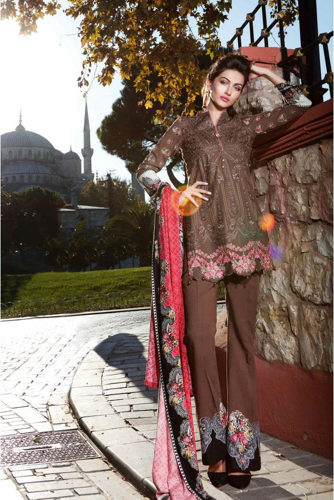 MARIA.B. Linen Winter Collection 2016 – Brown - DL404 - YourLibaas  - 1