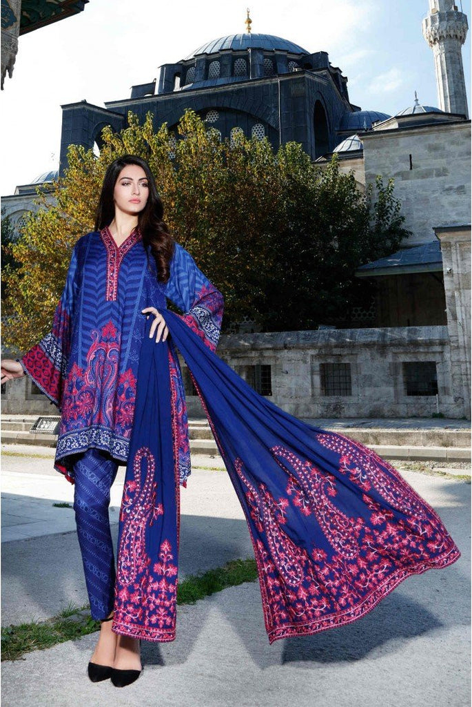 MARIA.B. Linen Winter Collection 2016 – Royal Blue - DL407 - YourLibaas  - 1
