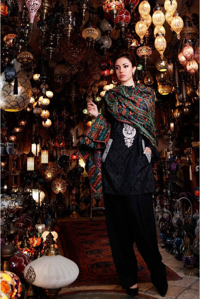 MARIA.B. Linen Winter Collection 2016 – Black - DL412 - YourLibaas  - 1