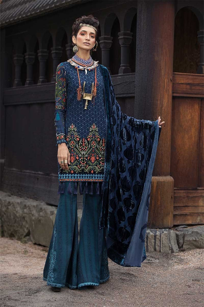 MARIA.B. Linen Winter Collection 2018 – DL-607-Navy Blue