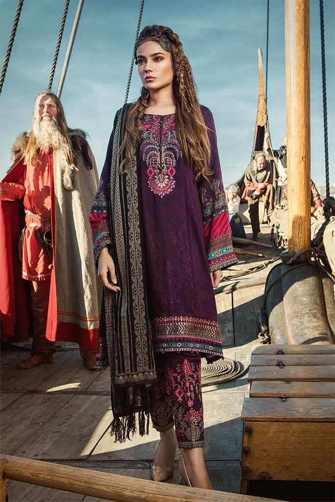 MARIA.B. Linen Winter Collection 2018 – DL-610-Purple