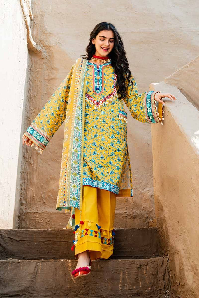 Gul Ahmed Summer 2020 – Halla Pottery – 3PC Digital Printed Lawn Suit CL-924