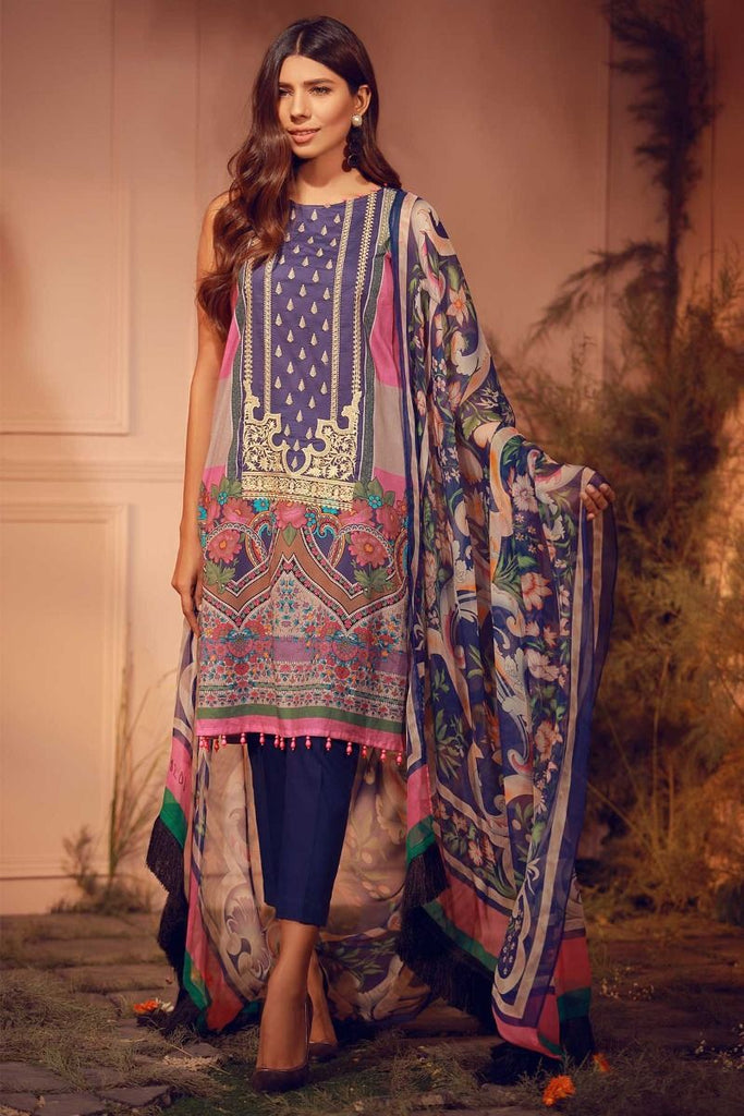Khaadi Luxury Collection 2018 – E18201 Blue