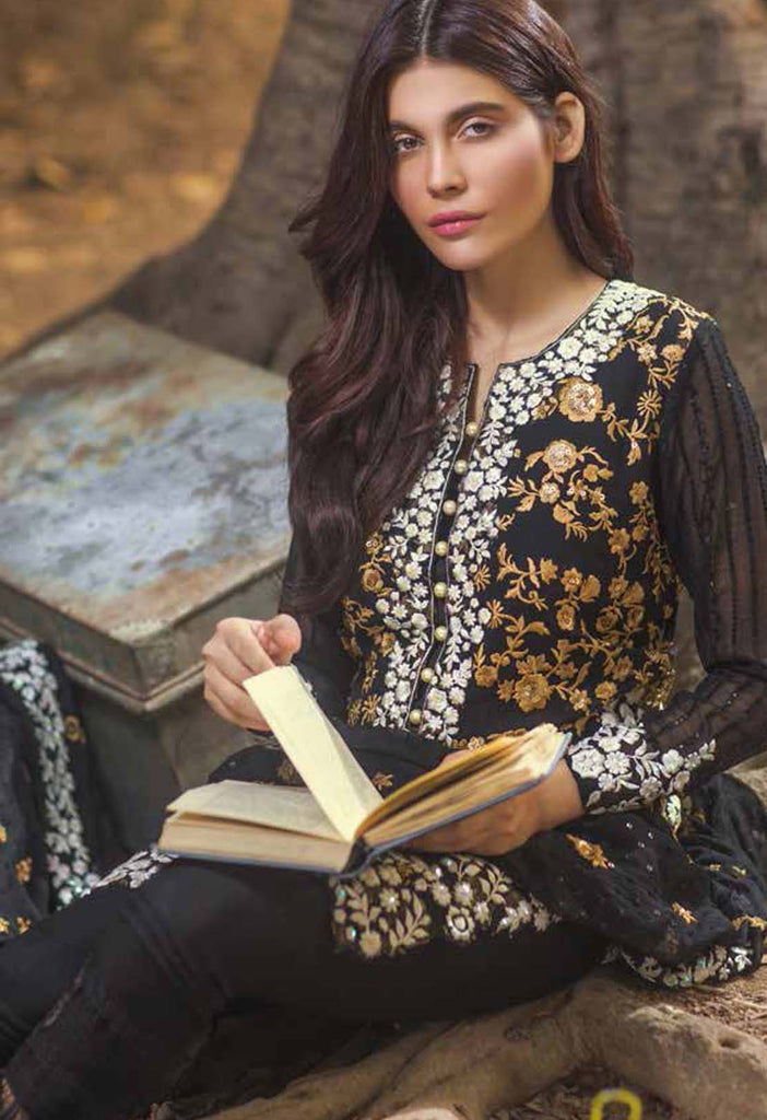 Mina Hasan Embroidered Chiffon Collection - 04 - YourLibaas  - 1