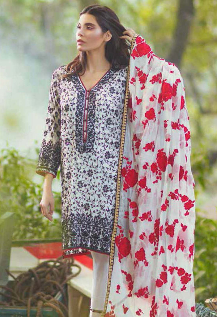 Mina Hasan Embroidered Chiffon Collection - 06 - YourLibaas  - 1