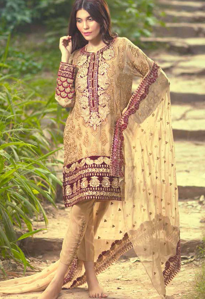 Mina Hasan Embroidered Chiffon Collection - 07 - YourLibaas  - 1