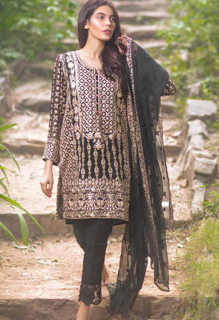 Mina Hasan Embroidered Chiffon Collection - 09 - YourLibaas  - 1