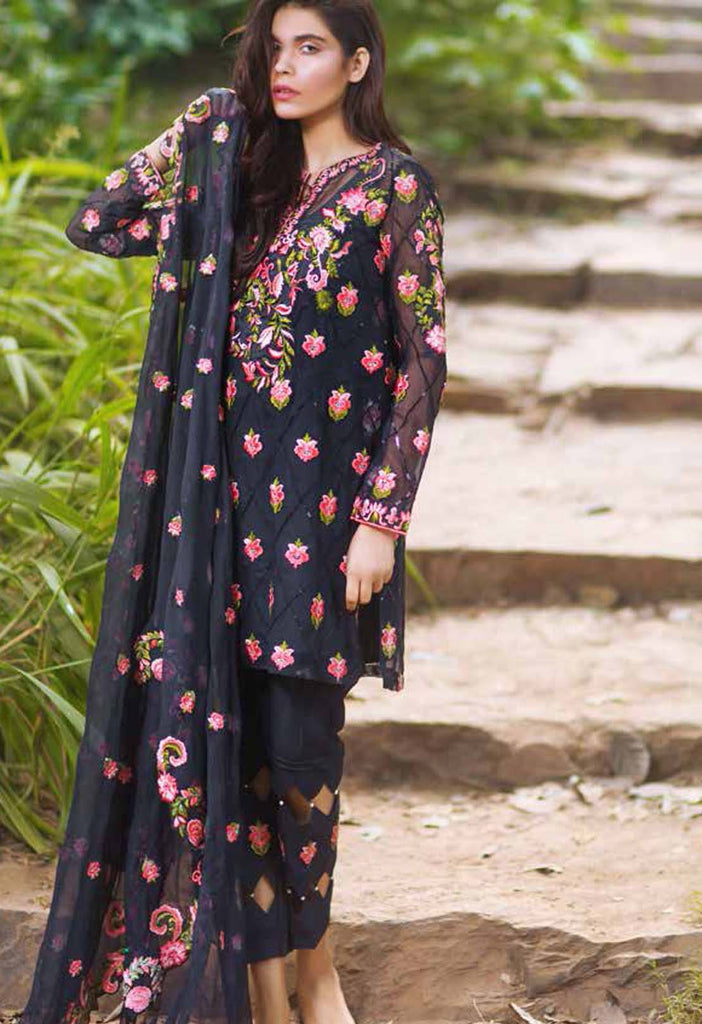 Mina Hasan Embroidered Chiffon Collection - 11 - YourLibaas  - 1