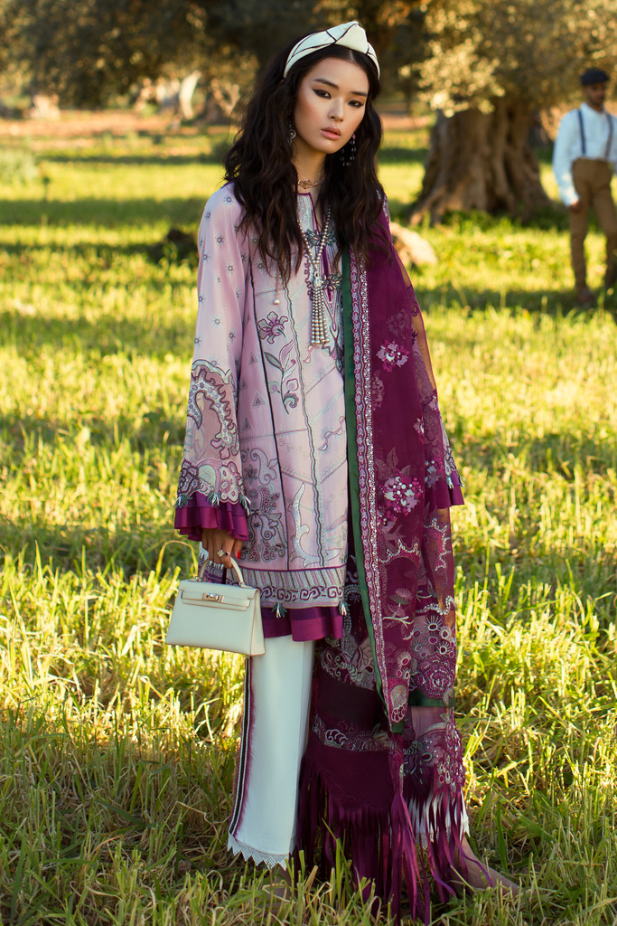 Élan Luxury Lawn Collection 2019 – EL-15 A (PÚRPURA)