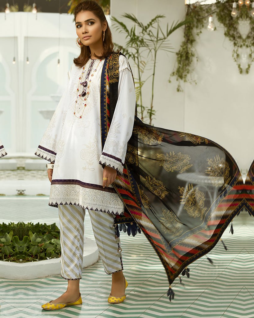 Zaha Fayroz Festive Lawn Collection 2019 – Kohinoor (ZF-01)