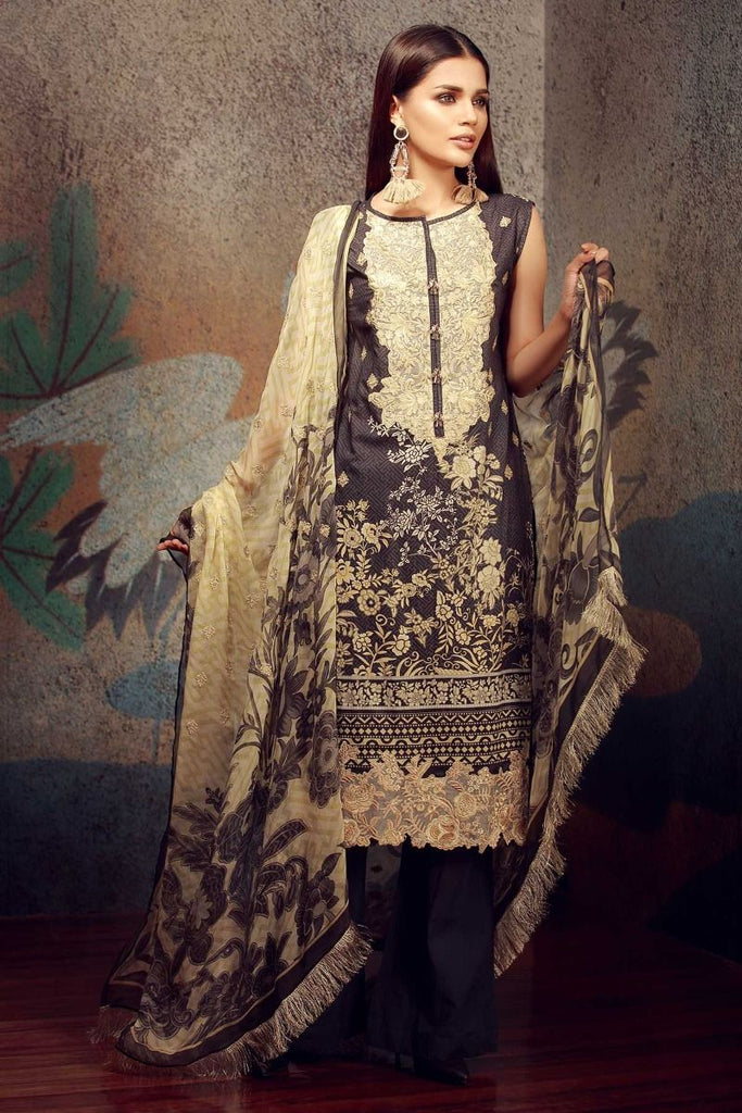 Khaadi Classics Lawn Collection 2018 – F18103 Black 3Pc