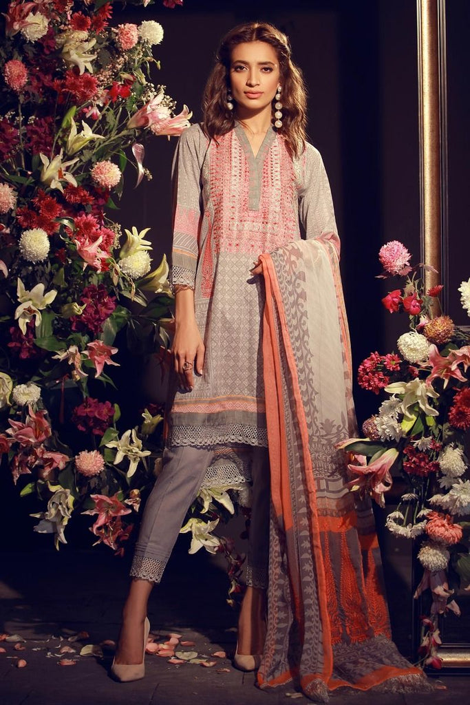 Khaadi Luxury Collection 2018 – F18201 Grey
