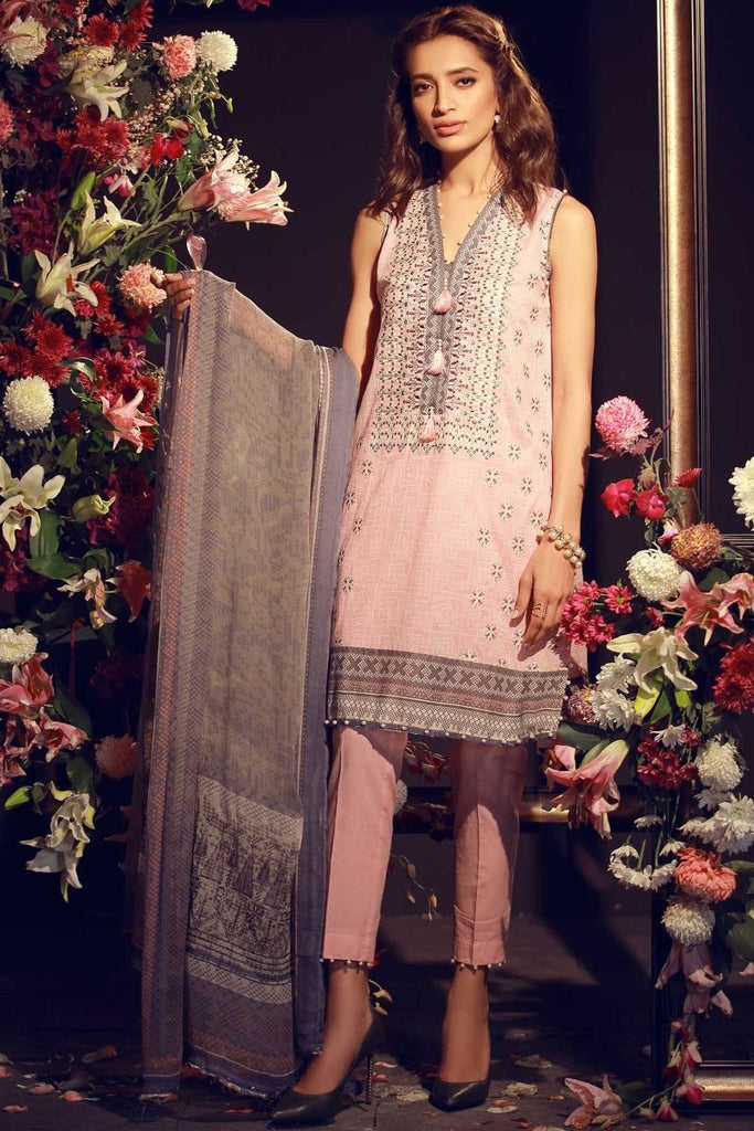 Khaadi Luxury Collection 2018 – F18202 Pink