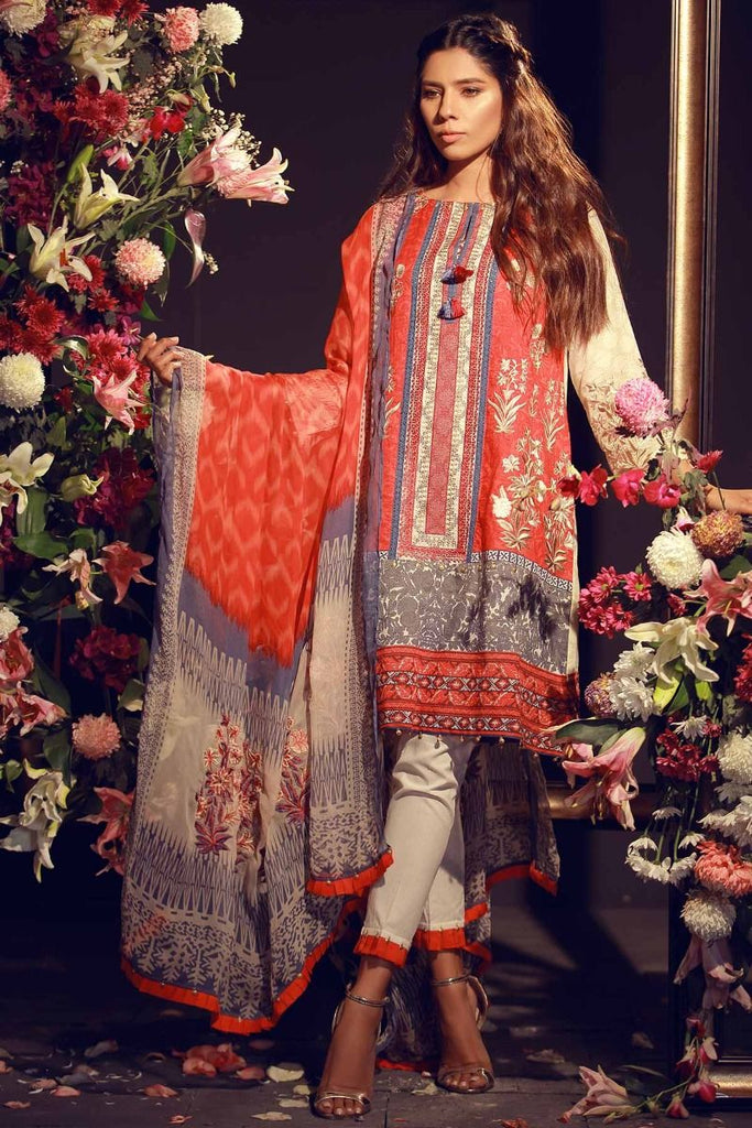 Khaadi Luxury Collection 2018 – F18203 Red