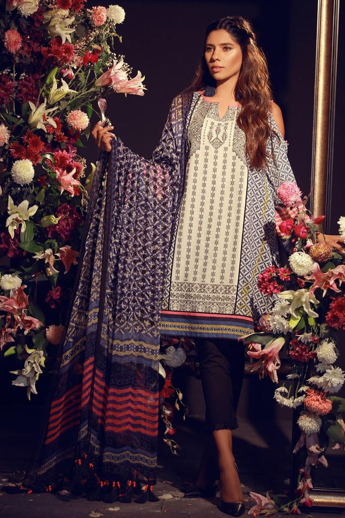 Khaadi Luxury Collection 2018 – F18204 Blue