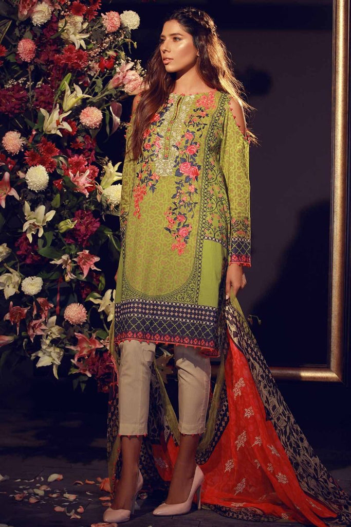 Khaadi Summer Lawn Collection 2018 Vol-2 – F18206 Green
