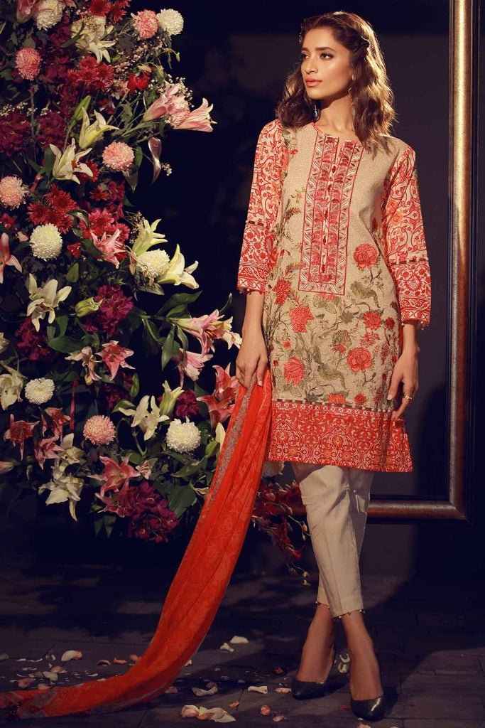 Khaadi Summer Lawn Collection 2018 Vol-2 – F18210 Beige