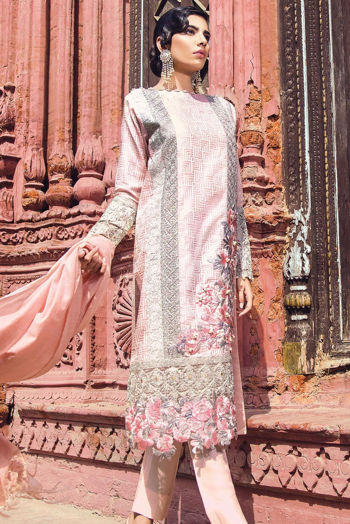 AlKaram Festive Embroidered Jacquard Collection 2018 – FC-01-18 Pink