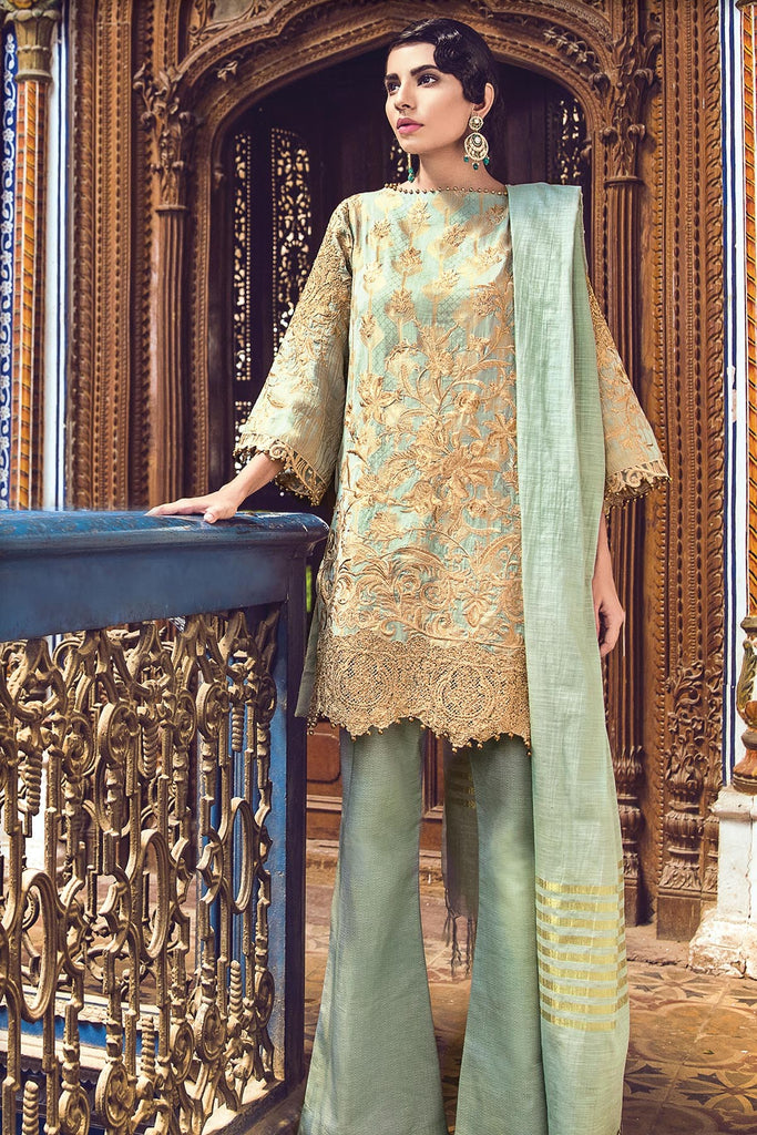 AlKaram Festive Embroidered Jacquard Collection 2018 – FC-02-18 Green