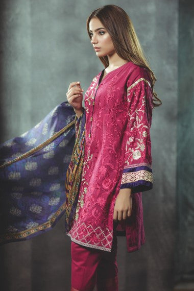 AlKaram Festival Eid Collection 2017 – Venice Blue
