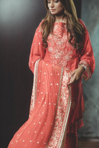 AlKaram Festival Eid Collection 2017 – Vermilion
