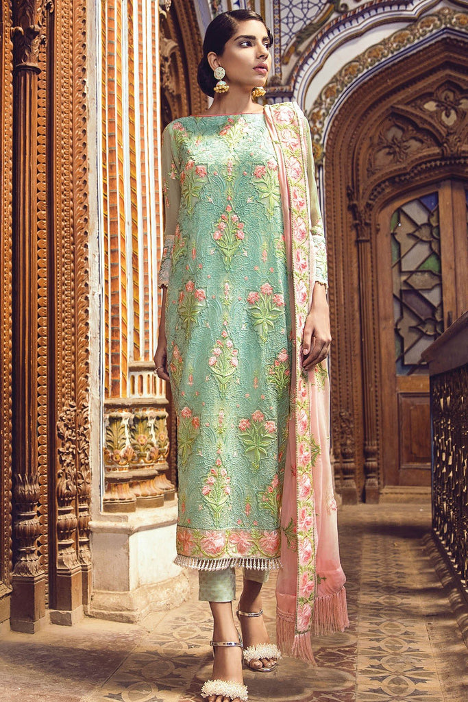 AlKaram Festive Embroidered Chiffon Collection 2018 – FC-13-18 Green