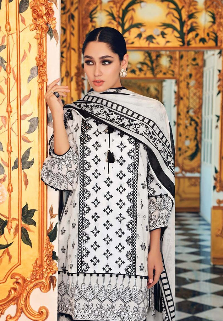Gul Ahmed Festive Jewelled Collection 2018 – White 3 Pc Embroidered FE-153